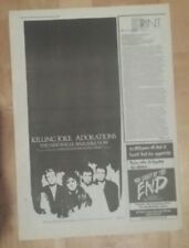 Killing Joke Adorations 1986 Presse Werbeanzeige 17 X 38 cm Poster