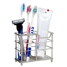 US Stainless Steel Bathroom Toothbrush Toothpaste Holder Stand Razor Silver New