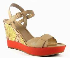 Cole Haan Paley High Wedge Sandstone Lemon Snake Leather Platform Sandal 8.5