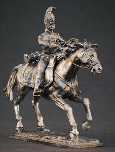 Tin soldier on a Horse 54 mm Unpainted.Napoleon's Wars.Can be painted to order