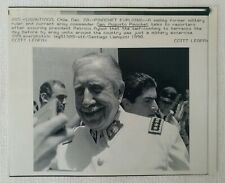More details for morning call archive 7x9 wirephoto smiling general pinochet 1990, santiago chile