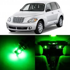 8 x Green Interior LED Lights Package For 2001 - 2010 Chrysler PT Cruiser +TOOL