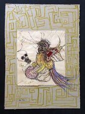 Paul Roxi, nach langer Reise, Zeichnung, handsigniert