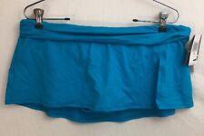 NEW La Blanca Womens Size 12 Skirted Tankini or Bikini Bottoms Light Blue F3-10