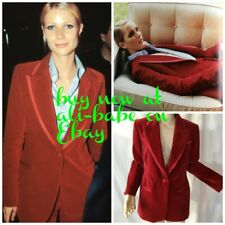 9dedcd6fb11 Gucci BY Tom Ford vintage red velvet blazer jacket I 44 mint