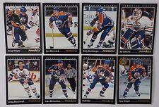 1993-94 Pinnacle Edmonton Oilers Team Set of 8 Hockey Cards