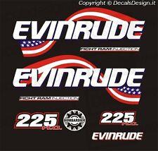 Adesivi motore marino fuoribordo Evinrude 225 cv ficht ram h.o. gommone barca