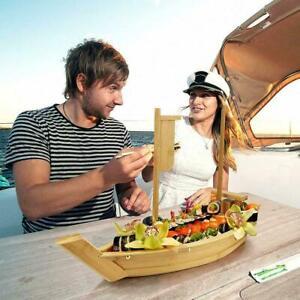 Wooden Cuisine Sushi Boat Sushi Tools Handmade Wooden DIY 2021 Model Decor I1M1