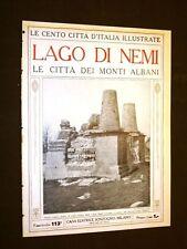 Lago di Nemi, le città dei monti Albani - Le Cento Città d'Italia illustrate