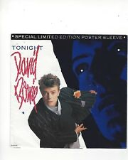 """45 RPM POSTER PICTURE SLEEVE ONLY- DAVID BOWIE- """"TONIGHT""""- EMI AMERICA"""