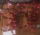 """HALLOWEEN OUTDOOR LIGHTED BLACK SPIDER FIGURE PURPLE WINDOW LIGHTS SIGN PROP 16"""""""