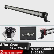 Slim 19Inch 54W CREE LED Spot Flood Combo Single Row Offroad Work Light Bar Lamp