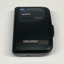 Sony Walkman Vintage WM-FX101 Stereo Cassette Player FM/AM Radio Headphones Work