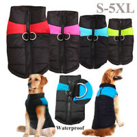Waterproof Puppy Wadded Jacket Pet Warm Coat Thickened Clothes Dog Vest