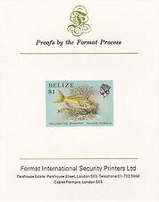 Belize 5115 - 1984 Vita Marina $1 HUNGARIAN SU CARTA FORMATO PROVA internazionale