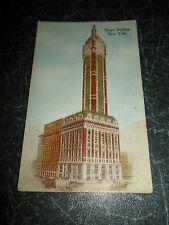 SINGER BUILDING New York ~ Rare Vintage  Postcard ~ Unused ~ Colour Tinted