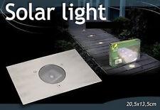 LAMPE SPOT SOLAIRE ENCASTRABLE TERRASSE JARDIN INOX 26