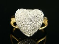 14K Ladies Womens 14 Mm Diamond Engagement Heart Ring