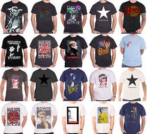 Official David Bowie T Shirt Blackstar Aladdin sane ziggy stardust heroes mens