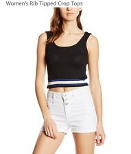 New Look Rib Tipped Crop Top Size 8 BN
