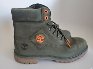 Timberland Premium 6 in Waterproof Nubuck Olive A2A6T Men's Size 10.5
