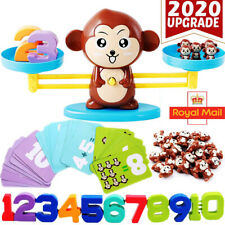 Kids Animals Number Math Learning Toys Monkey Balance Scale Fun Game Educational