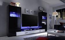 Multimediacenter In Schwarz Hochglanz Wohnwand Anbauwand Woody 32 00064