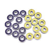 10 piezas 9 Rodamientos ruedas para patinetas patinaje ruedas alto rendimie*QA