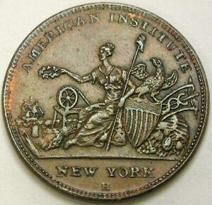 USA  American Institute / R. W. Robinson 1836 Hard Times Token - XF - 258 *