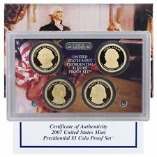 (1) 2007 United States Mint Presidential Dollars Proof Set in Original Box