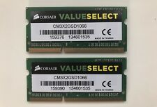 4GB kit (2x2GB) Corsair DDR3-1066 PC8500 RAM Memory SODIMM (CM3X2GSD1066)