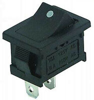 Wippentaster Taster Push ON  Schließer 1polig 230V 6A Einbautaster