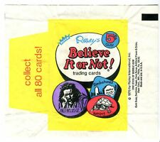 Ripley's Belive It Or Not 1970 Vintage 5 Cent Bubble Gum Trading Card Wrapper