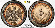 D27 Mexico 1881-Mo 5 Centavos PCGS MS-65 Top Pop:1/1 Only 1 Finer