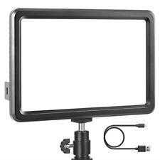 LED Video Light, RALENO Dimmable Bi-color 3200-5600k Panel Light, Built-in 104