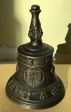 Antique Ornate Brass Hand Bell