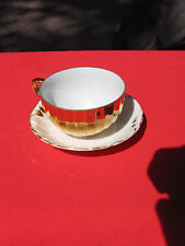 St. Kilda Gold Gilded Cup and Saucer Australian