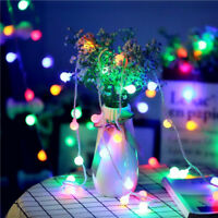 Fairy LED String Lights Christmas Round Ball Blubs Wedding Party Lamp 10M 5M 2M
