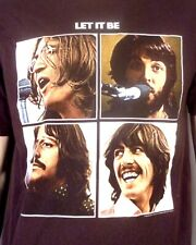 vtg 90s 00s The Beatles Let It Be T-Shirt Apple Corps 2004 John Lennon sz L