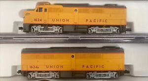 Life-Like N Scale #7429 FA/FB Union Pacific  #1624/1624b Locomotive Set Alco UP
