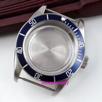 Sapphire Glass 41mm Stainless Steel Watch Case with Bezel  Fit ETA 2836 Movement