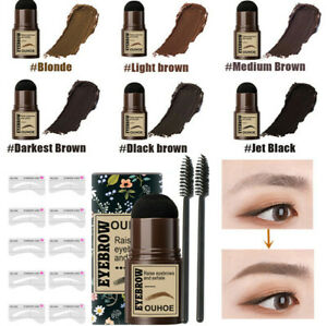 One Step Brow Stamp Shaping Kit Eyebrow Print Set Eyebrow Card Quick Natural ~UK