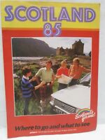 Vintage 1985 Scotland Where To Go What To See Tour Booklet Travel Brochure
