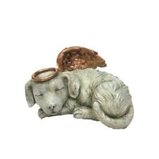 Heavenly Angel Dog Urn For Cremations Ashes Statue Pet Memorial Figurine