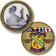 USS Sampson Challenge Coin DDG-10 Navy USN Ship Guided Missile Destroyer DD US