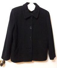Ann Taylor Loft Petite Coat Jacket Peacoat Black Wool Blend  8P EUC