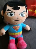 "DC Comics Super heroes superman soft toy 12"" plush new with tags"