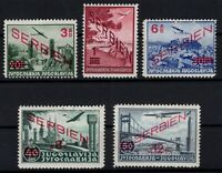 P132311/ SERBIA, GERMAN OCCUPATION – MI # 26 / 30 MNH / MH – COMPLETE – CV 135 $