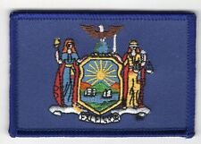 New York State Flag Patch Embroidered Iron On Applique