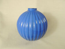 Blue Milk Glass Rounded Pleat Lightning Rod Ball